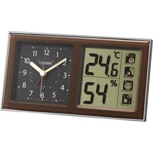 8RE648-A06ライフナビ648A置き時計CITIZENシチズン温度表示付連続秒針