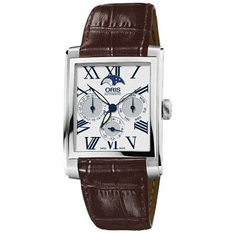 58176584071D rectangular complication ホワイトダイヤルローマン index ORIS Oris mens watch watch domestic genuine watch WATCH manufacturers with guaranteed sales type Christmas gifts fs3gm
