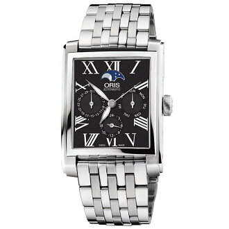 58176584074M rectangular complication ブラックダイヤルローマン index ORIS Oris mens watch watch domestic genuine watch WATCH manufacturers with guaranteed sales type Christmas gifts fs3gm
