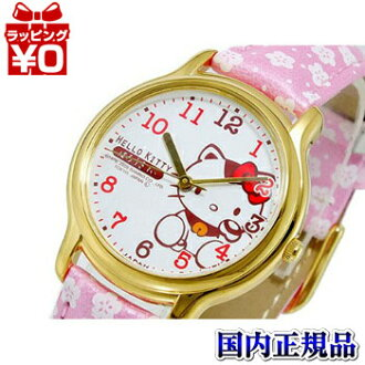0007N003 公民公民 Q & Q 提示和提示女士手錶在日本取得在日本製造的 HELLO KITTY 凱蒂貓孩子