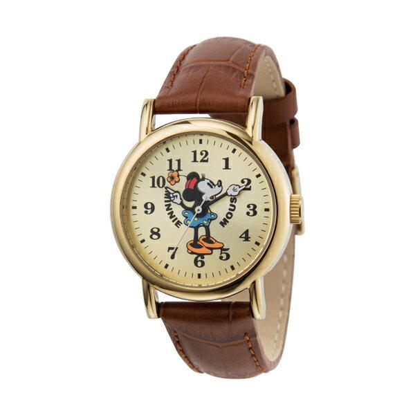 【エントリーでポイント5倍】M30-04-IVBR Disny ディズニー MICKEY ミニー ミニーマウス 革ベルト レディース腕時計 送料無料 送料込 おしゃれ かわいい