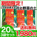 【期間限定!1,980円】【在庫あり/送料無料】 花と野菜の土 20L 3袋セット 赤ライン 培養土
