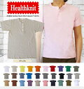 Healthknit ヘンリー Tシャツ ナチュラル