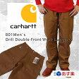 【スマホエントリーでポイント10倍】Carhartt  カーハート B01 Men's Double-Front Work Dungaree ダブルニーダックペインターパンツ【ブラウン】 【あす楽対応】