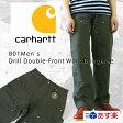 Carhartt  カーハート B01 Men's Double-Front Work Dungaree ダブルニーダックペインターパンツ 【モスグリーン】 【あす楽対応】