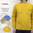 グッドウェア GOOD WEAR 7.2oz HEAVY WEIGHT POCKET TEE ヘビーウェイト ポケット付 長袖 Tシャツ MADE IN USA