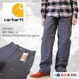 Carhartt  カーハート B01 Men's Double-Front Work Dungaree ダブルニーダックペインターパンツ 【グラベル】日本最速導入【あす楽対応】