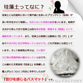【送料無料!即納】珪藻土マットMサイズ/レギュラーカラーバスマット