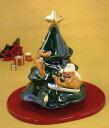 【送料無料】 京焼 清水焼 楽置物 クリスマスツリー