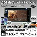 2DIN メディアステーション モニター DVDプレーヤー DVDプレイヤー HDMI iPhone スマートフォン スマホ Bluetoothオーディオ ハンズフリー スズキ アルト ワゴンR ハスラー パレット エブリイ