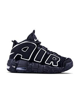 バスケットシューズ ジュニア キッズ バッシュ スニーカー   ナイキ Nike Air More Uptempo GS GS Blk/Wht   ストリート 【GS】キッズ