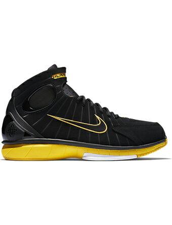 バスケットシューズ バッシュ スニーカー   ナイキ Nike Air Zoom Huarache 2K4 Blk/V.Maize/Wht   ストリート