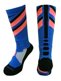 籃球短襪服裝船員短襪耐吉Nike Socks HyperElite Chase Crew Blu