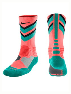 籃球穿襪子船員襪子耐克 Nike 襪子 HyperElite 大通船員粉紅色