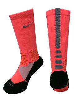 籃球穿襪子船員襪子超精英耐克 Nike 襪子 HyperElite BB 船員粉紅色