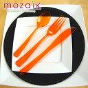 【Mozaik】カトラリーパック 3種×6本セット オレンジ...