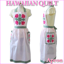 [point 10 times] [Hawaiian Quilt] Hawaiian Ann kilt apron hibiscus light pink leaf pink [Hawaii] [Hawaiian miscellaneous goods]
