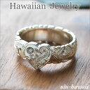 【Hawaiian Jewelry】ハワイアンジュエリー * 指輪 * シルバーリング(Hawaiian jewelry Silver Ring)ハートプルメリ...