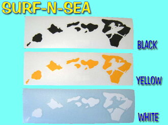 サーフアンドシー cut-out sticker Hawaii Islands ( MED) 3 colors