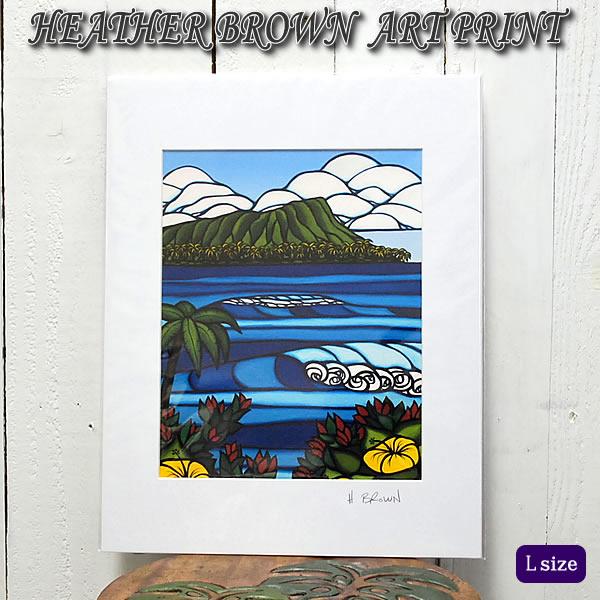 【ヘザーブラウン】【Heather Brown】ART PRINT L DIAMOND HEADへザー ブラウン・アートプリント【ヘザー・ブラウン】【Hawaii】【ハワイ 雑貨】【ハワイアン】【ハワイアン】【ハワイアン】