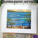 ART PRINT L HAWAIIAN HOLIDAYへザー ブラウン・アートプリント
