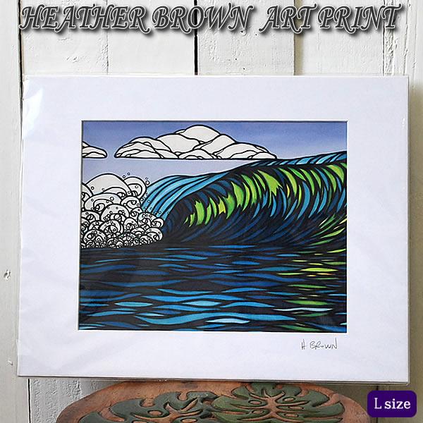 【ヘザーブラウン】【Heather Brown】ART PRINT L GLASSY GREENへザー ブラウン・アートプリント【ヘザー・ブラウン】【Hawaii】【ハワイ 雑貨】【ハワイアン】【ハワイアン】【ハワイアン】