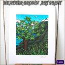 【ヘザーブラウン】【Heather Brown】ART PRINT L ULU TREEへザー ブラウン・アートプリント【ヘザー・ブラウン】【Hawaii】【ハワイ 雑貨】【ハワイアン】【ハワイアン】【ハワイアン】
