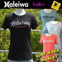 【SURF-N-SEA】【HURLEY】レディース Tシャツ NEWカラーサーフアンドシー&ハーレーコラボTEE 『HALEIWA4』Hawaii ハワイ雑貨 ハワイ..