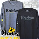 【SURF-N-SEA】Collabo【HURLEY】2017Winter メンズ ロングスリーブTシャツ『Haleiwa』『ハーレー サーフアンドシー』【Hawaii】【ハワイ 雑貨】ハワイアン雑貨【ハワイアン】