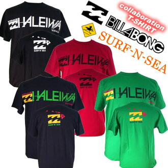 "And collabo ""Billabong & サーフアンドシー' collaboration with men's TEE""HALEIWA' M452PHSH"