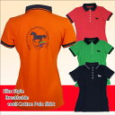 HKM ポロシャツ ランニングホース-レディース