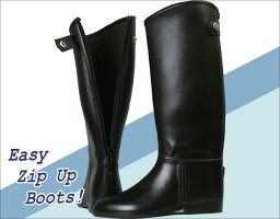 【乗馬ブーツ】 ジュニアライディングブーツ BZ-13 (ロングブーツ・ゴム長靴)