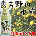 吉野川ゆず 100ml×6本 条件付き送料無料 高知県 四国 フルーツ 果汁100%
