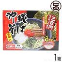 沖縄そば(めん・110g×2、スープ・味付豚バラ肉煮込み付き)2食入・箱入り 送料無料 沖縄 人気 琉球料理 定番 土産