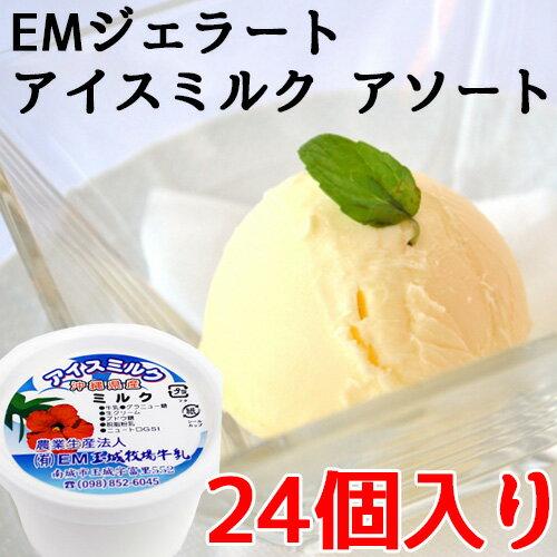 EMジェラート アイスミルク 24個入り アソート 条件付き送料無料 沖縄 土産 珍しい 冷たい