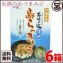 沖縄県産 石垣の塩漬け 島らっきょう 60g×6箱 送料無料 炒め物料理やお酒のおつまみに