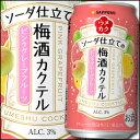 サッポロ ウメカクソーダ仕立ての梅酒カクテル ピンクグレープフルーツ350ml缶×1ケース(全24本)