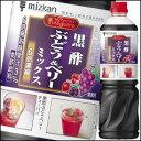 ミツカン・ビネグイット 黒酢ぶどう&ベリーミックス1L×1本(6倍濃縮タイプ)【1000ml】【Mizkan】
