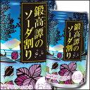 【送料無料】合同 鍛高譚のソーダ割り350ml缶×2ケース(全48本)