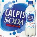 【送料無料】カルピス カルピスソーダ500ml×2ケース(全48本)【CALPIS】【アサヒ】【ASAHI】【炭酸飲料】【サイダー】【ソーダ】
