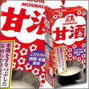 【送料無料】森永 甘酒1L紙パック×2ケース(全12本)