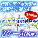 【送料無料】サンガリア 伊賀の天然水炭酸水500ml6種類より2種選べる合計48本セット
