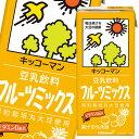 ショッピングフルーツ 【送料無料】キッコーマン 豆乳飲料 フルーツミックス1L紙パック×4ケース(全24本)
