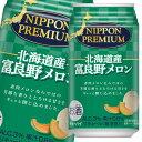 ショッピングメロン 【送料無料】合同 NIPPON PREMIUM 北海道産富良野メロン350ml缶×2ケース(全48本)
