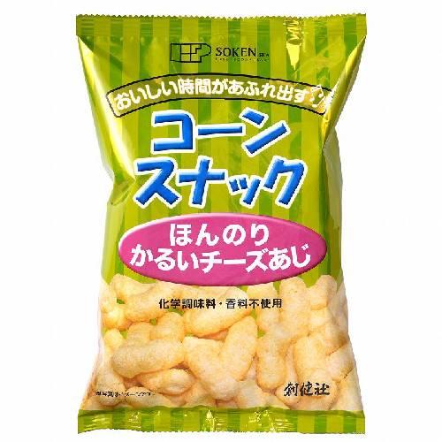 【創健社】コーンスナック ほんのりかるいチーズあじ 50g