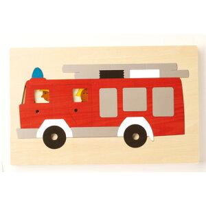 2重パズル・パズル・消防車 (GL8161) 【ジトレ/GITR