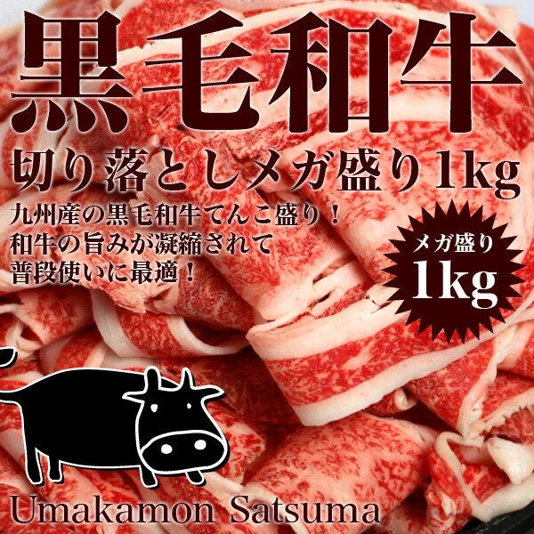 【送料無料】黒毛和牛メガ盛り切り落とし1kg