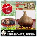 ニンニク 青森県産 熟成 黒にんにく M-A等級6球 5箱セット