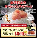 【訳あり】100セット限定無着色辛子明太子 切子 500g