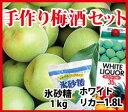 □【予約販売・送料無料】 「手作り梅酒セット」紀州南高梅・青梅1kg【大粒以上】氷砂糖1kg・ホワイトリカー【限定100セット】